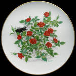 Beauty Secret: Boehm Miniature Rose Collection Plate
