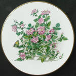 Toy Clown: Boehm Miniature Rose Collection Plate