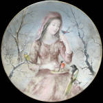 La Jeune Fille D'hiver: Winter Girl By Cambier Limoges