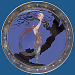 Fireflies: House Of Erte, Doulton, Franklin Mint Plate