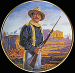 John Wayne, Hero Of The West By Robert Tanenbaum Plate
