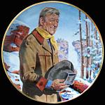John Wayne, Pine Ridge By Robert Tanenbaum Plate