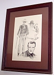 John Wayne Drawing Glen Fortune Banse '75 Vintage