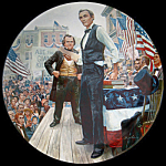 Douglas Debates: Lincoln Man Of America, Kunstler Plate