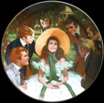 Scarlett And Her Suitors: Gone With The Wind Plate