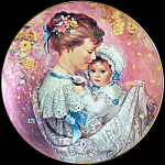 Cherished Moment: Bonds Of Love By Brenda Burke Plate