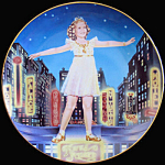 Little Miss Broadway: Shirley Temple Danbury Mint Plate