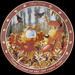 God Created Leaves: Garfield Dear Diary Jim Davis Plate