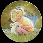 Tender Moment: Children & Pets Plate By Zolan Pemberton