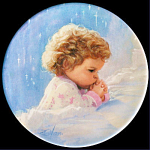 Twilight Prayer: Mother's Day Miniature Plate By Zolan