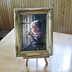 Daddy's Home: Zolan Miniature Lithograph, Father's Day