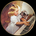 Song For Two: Donald Zolan Miniature Pemberton Plate