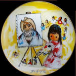 Little Girl Paints Degrazia Artists Of The World Plate