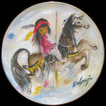 Merry Little Indian: Degrazia Children, Fairmont Plate