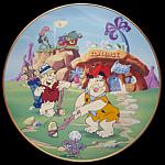 Watch The Birdie: Flintstones Franklin Mint Plate
