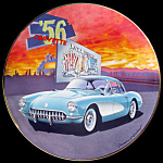 1956 History Of Corvette: Wieland Franklin Mint Plate