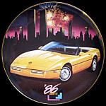 1986 History Of Corvette: Wieland Franklin Mint Plate