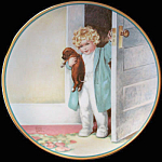 Good Morning: Child's Best Friend Plate, Bessie Gutmann