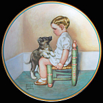 Sympathy: Child's Best Friend, Gutmann & Hamilton Plate