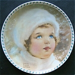 Snow Bird: Bessie Pease Gutmann Christmas Plate