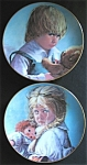 Terry And Teddy By Sue Etem - Two Plate Set