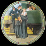 An Orphan's Hope: American Dream, Norman Rockwell Plate