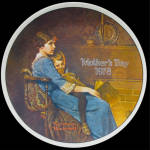 Bedtime: Rockwell Mother's Day Plate 1978, Knowles Plate