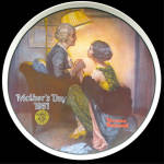 After The Party: Mother's Day, Norman Rockwell Plate 1981