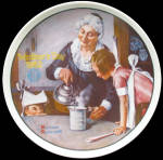 The Cooking Lesson: Mother's Day, Norman Rockwell Plate 1982