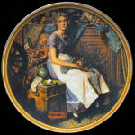 Dreaming In The Attic: Norman Rockwell Plate
