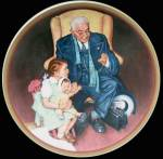 Tender Loving Care: Ones We Love, Norman Rockwell Plate