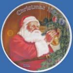 Santa's Golden Gift: Norman Rockwell Christmas Plate