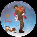 Wrapped Up In Christmas: Norman Rockwell Society Plate
