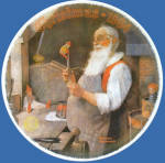 Santa In His Workshop: Norman Rockwell Christmas Plate