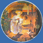 Somebody's Up There: Norman Rockwell Christmas Plate
