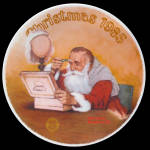 Grandpa Plays Santa: Norman Rockwell Christmas Plate