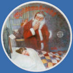 Deer Santy Claus: Norman Rockwell Christmas Plate