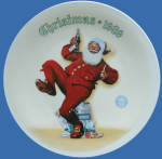 Jolly Old St. Nick: Norman Rockwell Christmas Plate