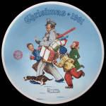 Santa's Helper: Norman Rockwell Christmas Knowles Plate