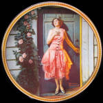 Standing In The Doorway: Norman Rockwell Knowles Plate