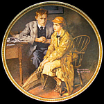 Confiding In The Den: Norman Rockwell, Knowles Plate