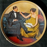Flirting In The Parlor: Norman Rockwell Knowles Plate