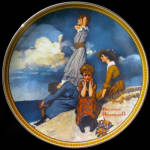 Waiting On Shore: Rediscovered Women, Rockwell Plate