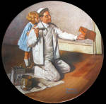 The Painter: Noman Rockwell Heritage Plates Knowles