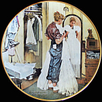Her First Formal: Coming Of Age Norman Rockwell Plate