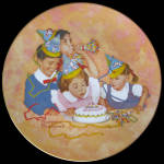 Birthday Party: American Family, Rockwell Plate