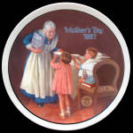 Grandma's Surprise: Mother's Day, Norman Rockwell Plate 1987