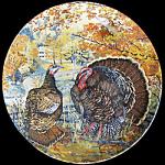 Wild Turkey: Upland Birds North America, Knowles Plate