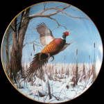 Winter Solitude: Game Birds By David Maass Danbury Mint