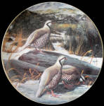 First Snow: Game Birds By David Maass, Danbury Mint